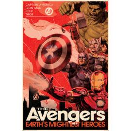 Bosszúállók plakát - Golden Age Hero Propaganda