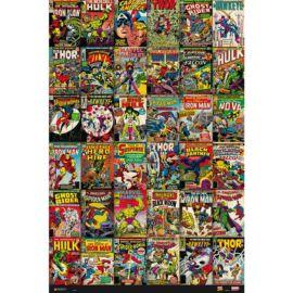 Marvel Comics plakát - Retro képregények