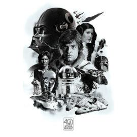 Star Wars plakát - 40 éves jubileumi montázs plakát