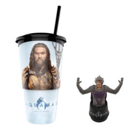Aquaman pohár és Ocean Master topper popcorn tasakkal