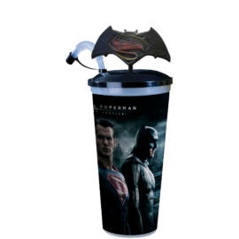 Batman Superman ellen - Az igazság hajnala pohár és logó topper