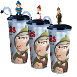 Sherlock Gnomes pohár, topper és popcorn tasak szett