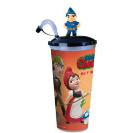 Sherlock Gnomes pohár és Gnomeó topper (színes pohár)