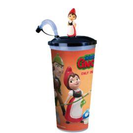 Sherlock Gnomes pohár és Júlia topper (színes pohár)