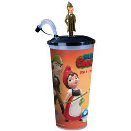 Sherlock Gnomes pohár és Sherlock Gnomes topper  (színes pohár)