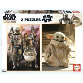 Star Wars The Mandalorian puzzle - Baby Yoda - 2 X 500 db-os