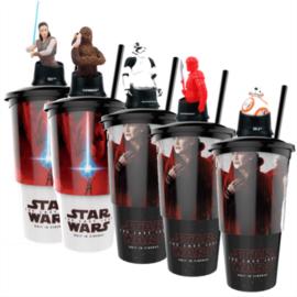 Star Wars: Az utolsó Jedik pohár és topper szett popcorn tasakokkal