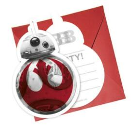 Star Wars Party meghívó - BB-8 - 6 darabos