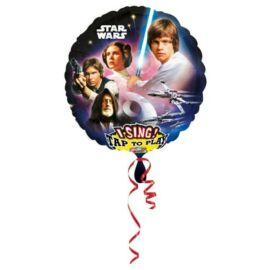 Star Wars zenélő fólia lufi 71 cm-es
