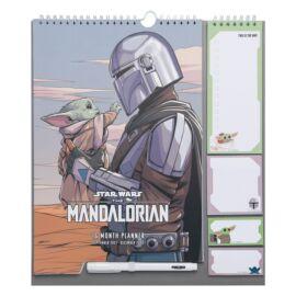 Star Wars The Mandalorian falra akasztható havi tervező 2021/2022