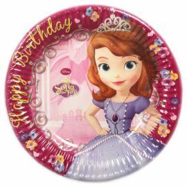 Disney Szófia hercegnő papírtányér, 19,5 cm 8 db-os szett - Boldog születésnapot