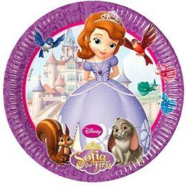 Disney Szófia hercegnő papírtányér, 19,5 cm 8 db-os szett - Szófia és Clover