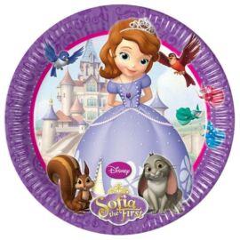 Disney Szófia hercegnő papírtányér, 23 cm 8 db-os szett - Szófia és Clover