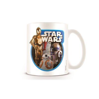 Star Wars porcelán bögre - Droidok (C-3PO, R2-D2, BB-8)