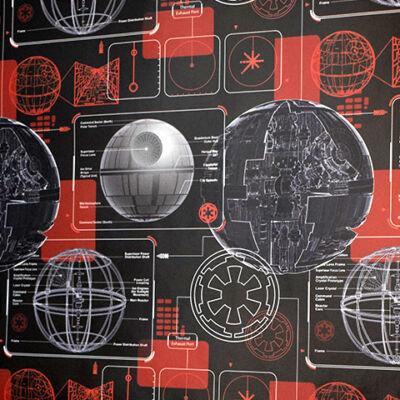 Star Wars Halálcsillag mintás csomagolópapír