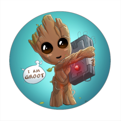 Baby Groot hűtőmágnes III.