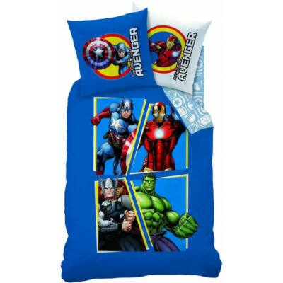 Bosszúállók ágyneműhuzat garnitúra (Amerika Kapitány, Vasember, Hulk, Thor)