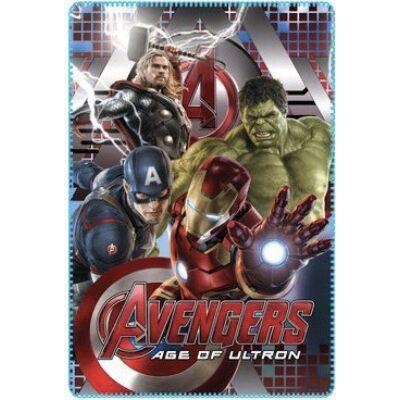 Bosszúállók: Ultron kora polár takaró, ágytakaró - Vasember, Amerika Kapitány, Hulk, Thor