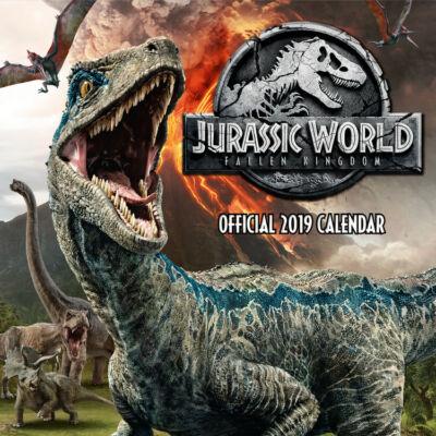 Jurassic World: Bukott birodalom falinaptár 2019
