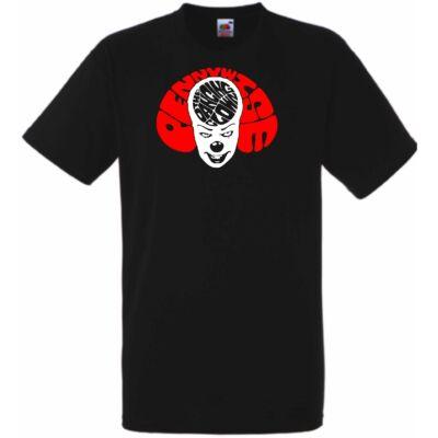 Fekete AZ Pennywise férfi rövid ujjú póló