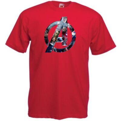Piros Bosszúállók - Avengers - Férfi rövid ujjú póló