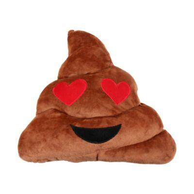 Emoji díszpárna - Szerelmes Kaki Párna