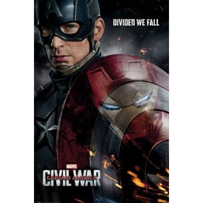 Amerika Kapitány: Polgárháború plakát - Visszaverődés