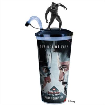 Amerika Kapitány: Polgárháború pohár és Fekete Párduc topper
