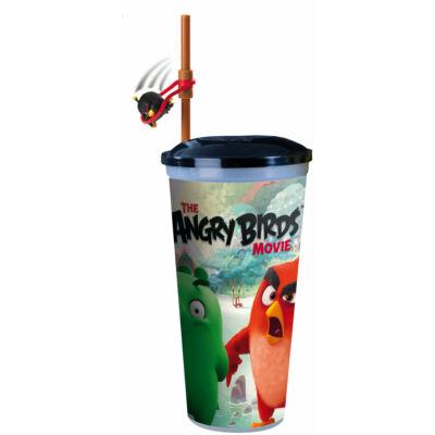 Angry Birds - A film pohár szívószállal, pörgethető Bomb figurával