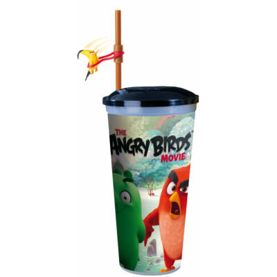 Angry Birds - A film pohár szívószállal, pörgethető Chuck figurával