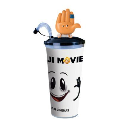 Az Emoji-film pohár, Hi-5 topper és popcorn tasak