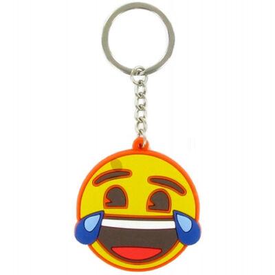 Emoji sírva nevetős kulcstartó