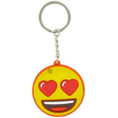 Emoji szívecske szemű kulcstartó
