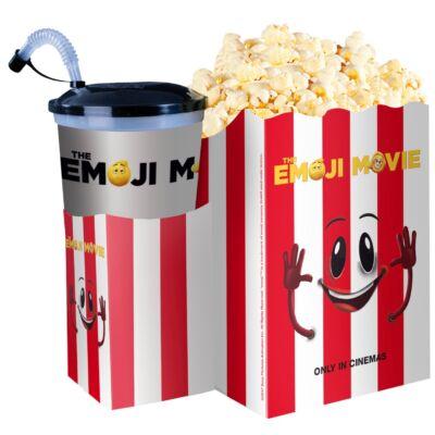 Az Emoji - A film popcorn tasak pohártartóval