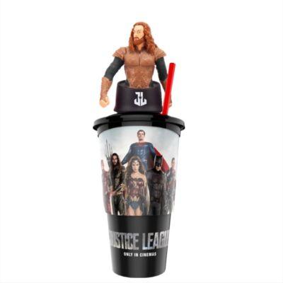 Az Igazság Ligája pohár Aquaman topper és popcorn tasak