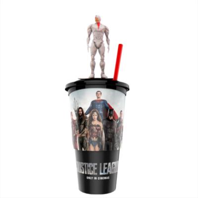 Az Igazság Ligája pohár Cyborg topper és popcorn tasak
