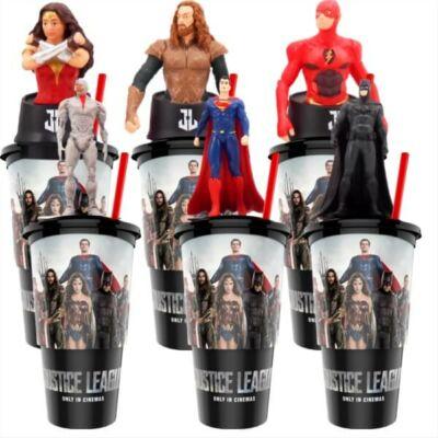 Az Igazság Ligája pohár és topper szett popcorn tasakokkal