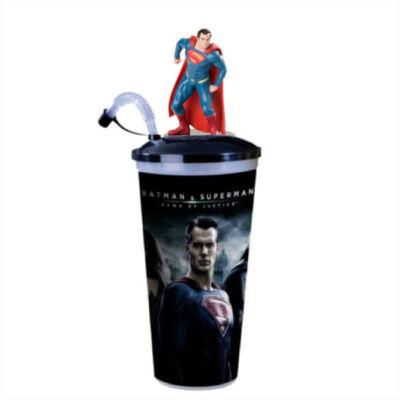 Batman Superman ellen - Az igazság hajnala pohár és Superman topper