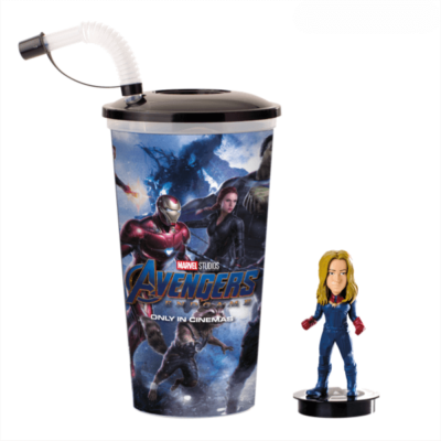 Bosszúállók: Végjáték pohár és Marvel Kapitány topper