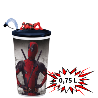 Deadpool 2 0,75 literes pohár és topper (fekvő Deadpool)