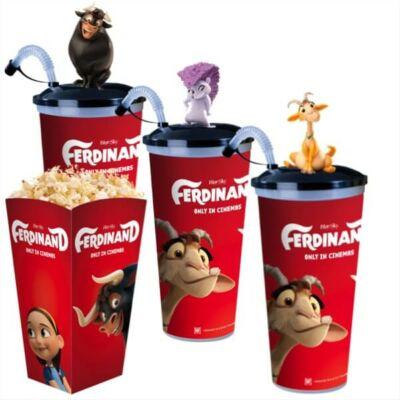 Ferdinánd pohár és topper szett popcorn tasakokkal
