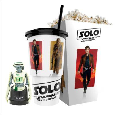 Solo: Egy Star Wars-történet pohár, L3-37 topper és popcorn tasak