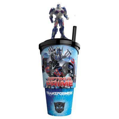 Transformers: Az utolsó lovag pohár, Optimus Fővezér topper és popcorn tasak