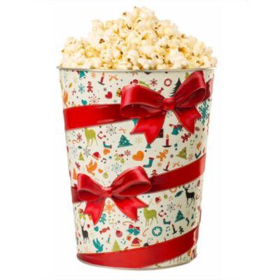 Karácsonyi dombornyomott popcorn vödör