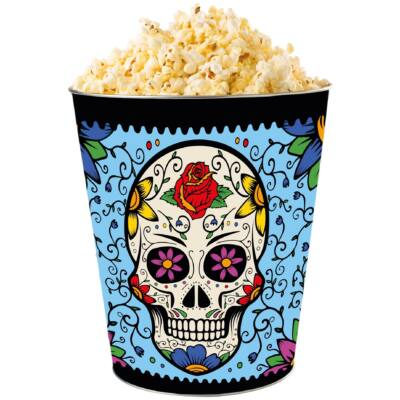 Halloween 2018 giga dombornyomott popcorn vödör világoskék