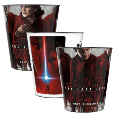Star Wars: Az utolsó Jedik popcorn vödör szett