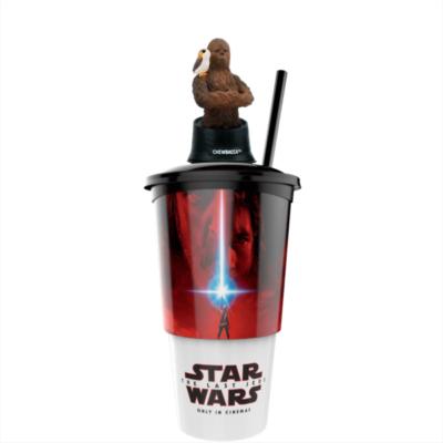 Star Wars: Az utolsó Jedik pohár Chewbacca topper és popcorn tasak