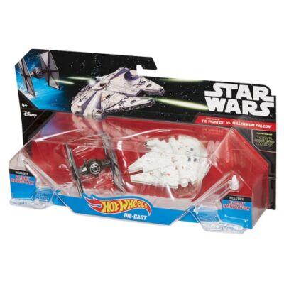Hot Wheels: Star Wars Első Rend TIE fighter és Ezeréves Sólyom - 2db-os űrhajó szett