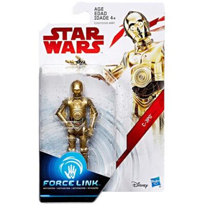Star Wars: Az utolsó Jedik - C-3PO Force Link figura