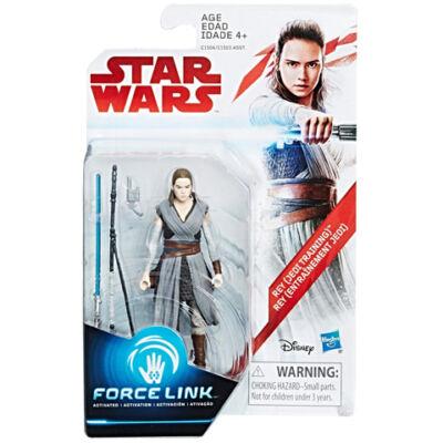 Star Wars: Az utolsó Jedik - Rey Jedi tanonc Force Link figura